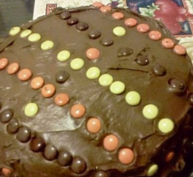 Reece's Pieces Chocolate cake