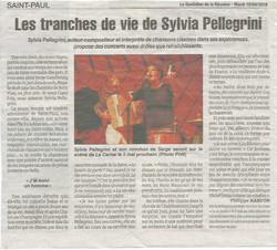 """Sylvia Pellegrini """"Le Quotidien"""""""