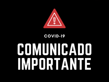 Suspensão de Aulas devido COVID-19