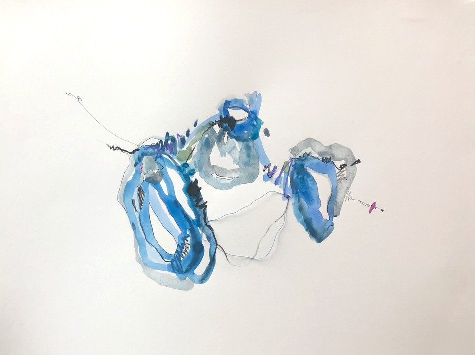 untitled (blues, greys with thread)