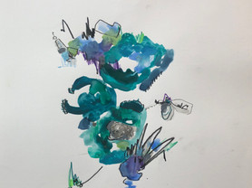untitled (teals and purples)