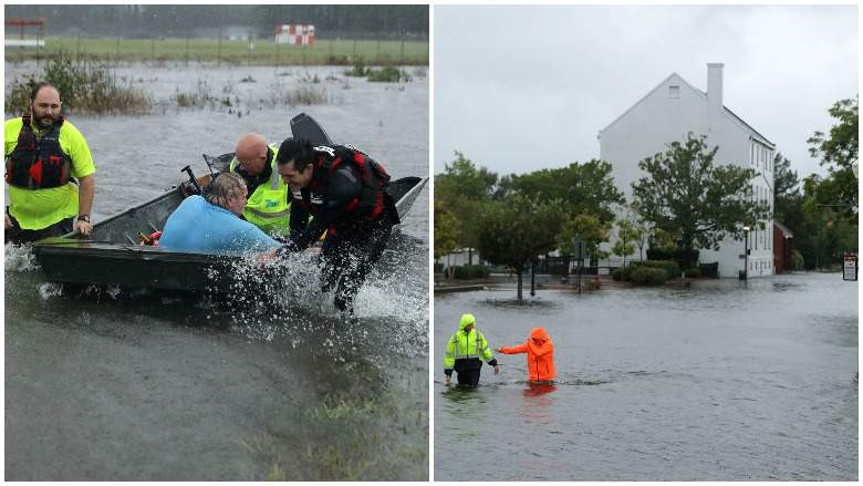 TROPICAL STORM FLORENCE IN THE CAROLINAS