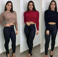 Blusa cropped  Tricot