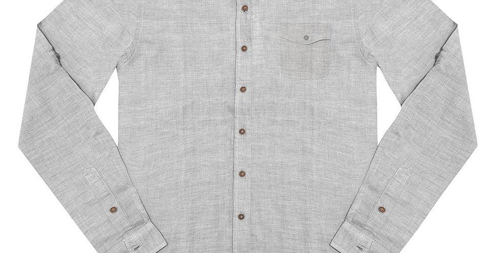 Frente da Camisa Tricoline Masculina Rovitex Granito