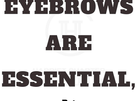 Brows are essential! But....