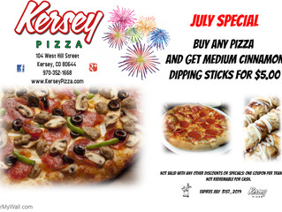 🍕JULY COUPON from Kersey Pizza 🍕