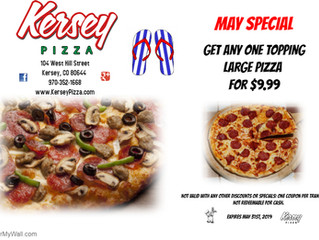 🍕May COUPON from Kersey Pizza🍕