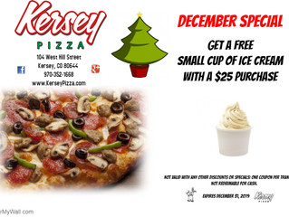 🍕DECEMBER COUPON from Kersey Pizza🍕