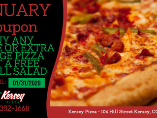 🍕JANUARY COUPON from Kersey Pizza 🍕