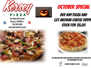 🍕 October COUPON from Kersey Pizza 🍕
