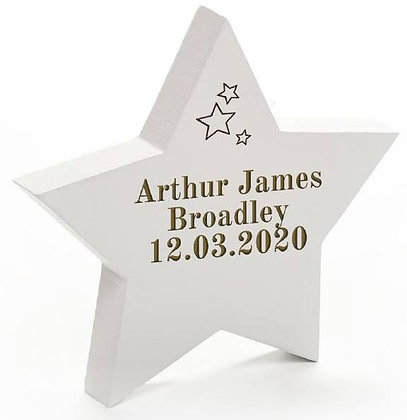 Solid Wood Star Plaque