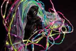 Variety of yarns spun on Magpie