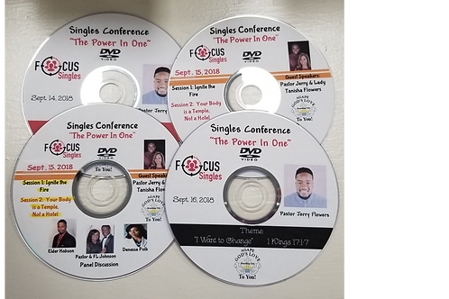 """Power in One"" Singles Conference DVD (set of 4)"