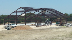 The Frame going up