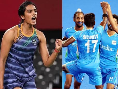 ओलंपिक्स 2020: पीवी सिंधु को कांस्य, हॉकी में भारत पहुंचा सेमीफाइनल में