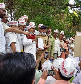 प्रदेश भर मे निकली एनपीएस निजीकरण भारत छोड़ो पदयात्रा