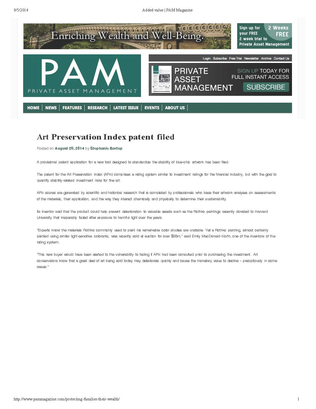 Private Asset Management Magazine