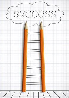 way to success creative concept, pencils