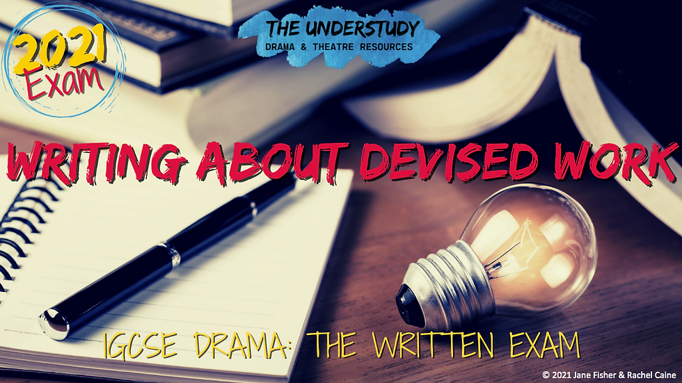 WRITING ABOUT DEVISED
