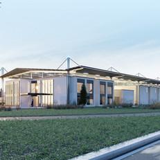 Centre d'exploitation de la SICAE Est à Combeaufontaine (25)