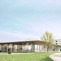 Construction du pôle restauration du futur campus des lycées, Lunéville (54)