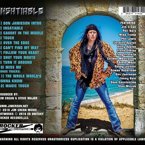 "Jim Crean ""Insatiable"" CD"