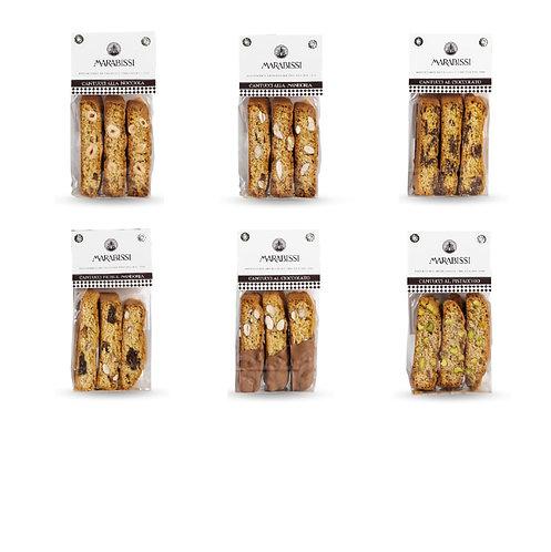 I Signori mini - kleine zakjes met cantuccini in 6 smaken - 18stuks