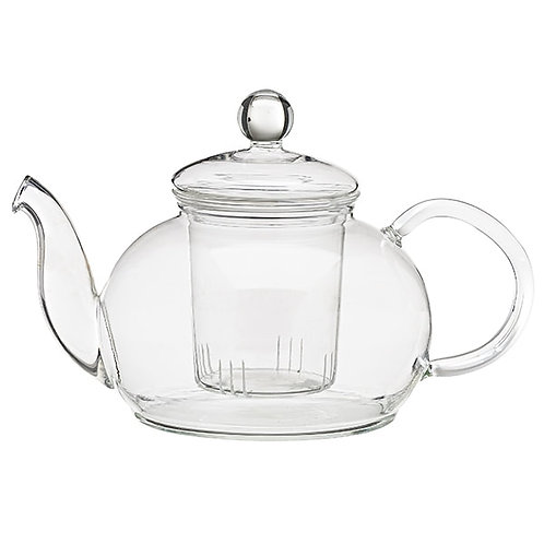 Glazen theepot, 1 liter - 1stuk