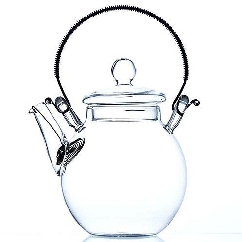 Glazen theepot met rvs filter en handgreep, 420cc - 1stuk