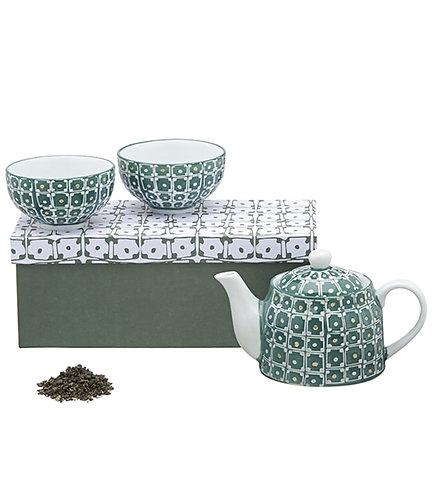 Aardewerk theeservies groen - 1stuk