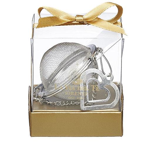 Theebal met hartje, in geschenkverpakking - 6stuks