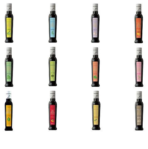 Extra vergine olijfolie met smaakje, fles 250ml - 3stuks