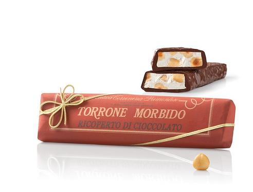 Torrone Morbido con Nocciole, Mandorle e Papaya ricoperto di Cioccolato - 8stuks
