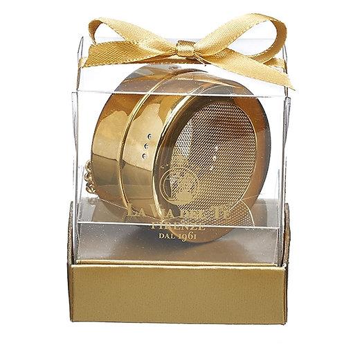 Thee ei kistje goudkleurig rvs, in geschenkverpakking - 6stuks