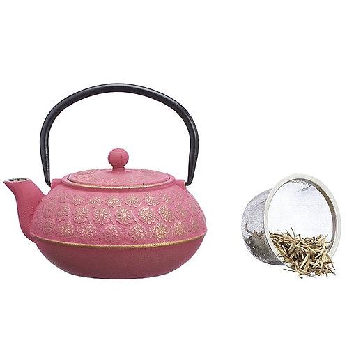Roze Chinese gietijzeren theepot van 500cc - 1stuk