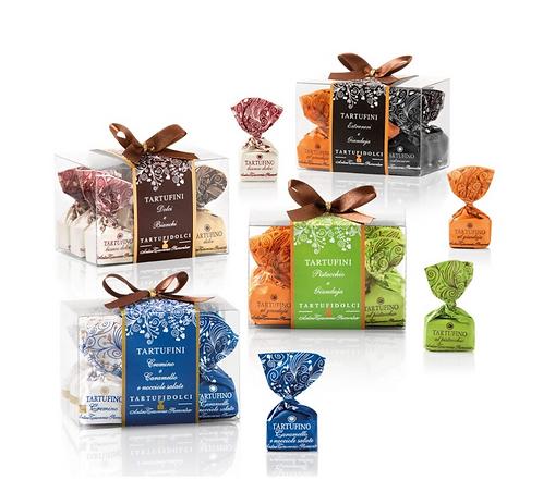 Geschenkdoosjes met combi van chocoladetruffels - 12stuks