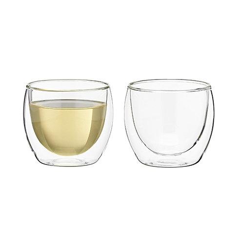 Glass teacups, 150cc (set of 2) - 1set