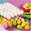 Thumbnail: Grote gesuikerde, gekleurde paaseieren - tray 60stuks