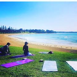 Beach yoga and meditation
