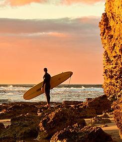 Torquay beach surfer