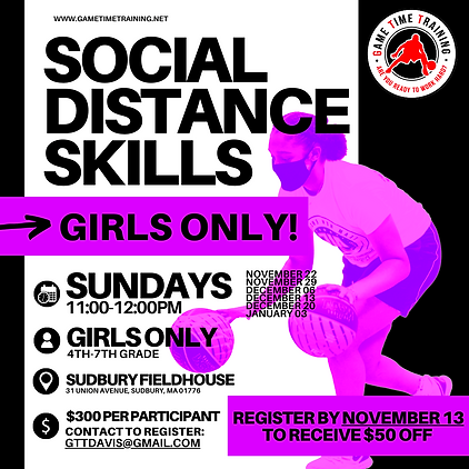 Offering a program for 4th-6th grade girls was imperative for GTT this winter.  Creating a space where girls can play with peers is critical to comfort and development at this age.   This program WILL sell out as we are capping the number of players to 20.   Following all social distancing guidelines, each player will use their own ball and get a ton of ball handling and shooting reps weekly.
