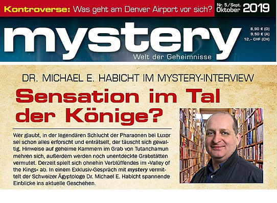 2019 Interview Mysteries Magazin Tutanchamun Sensation