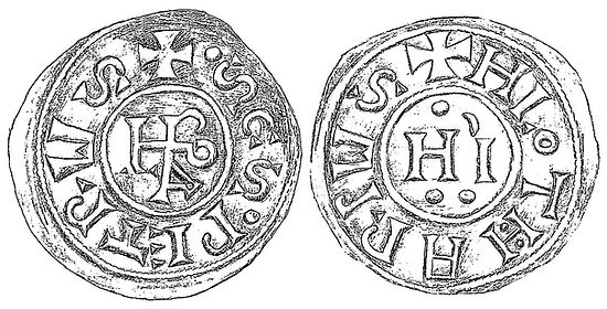 Coin Pop Leo IV and Lothair I (c.847-853 AD)
