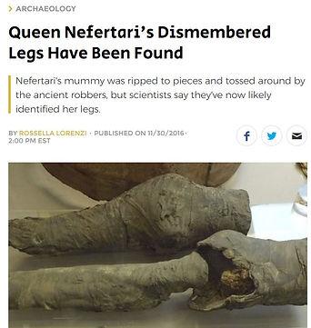 Queen Nefertari Turin media report