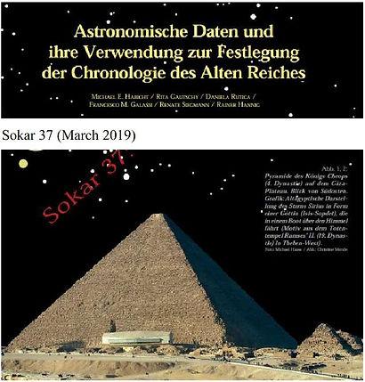 Sokar Pyramidenzeitschrift Sothisdatum Chronologie