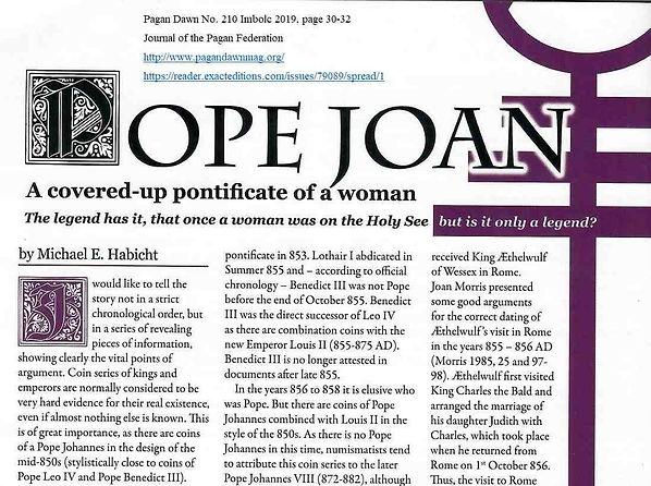 Pagan Dawn Pope Joan