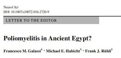 NeurologicalScience Polio Pharaoh Siptah, Ruma