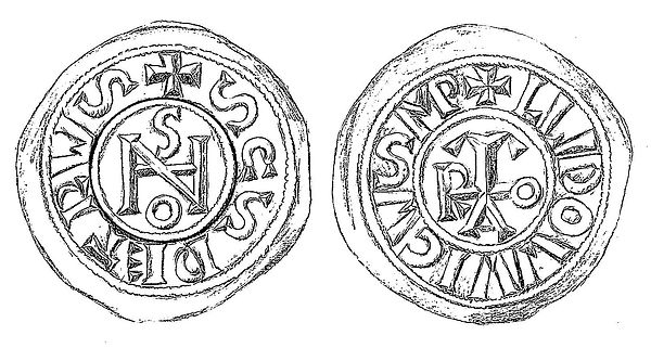 Coin attributed to Pope Joan Silver Denier c. 856-858 AD