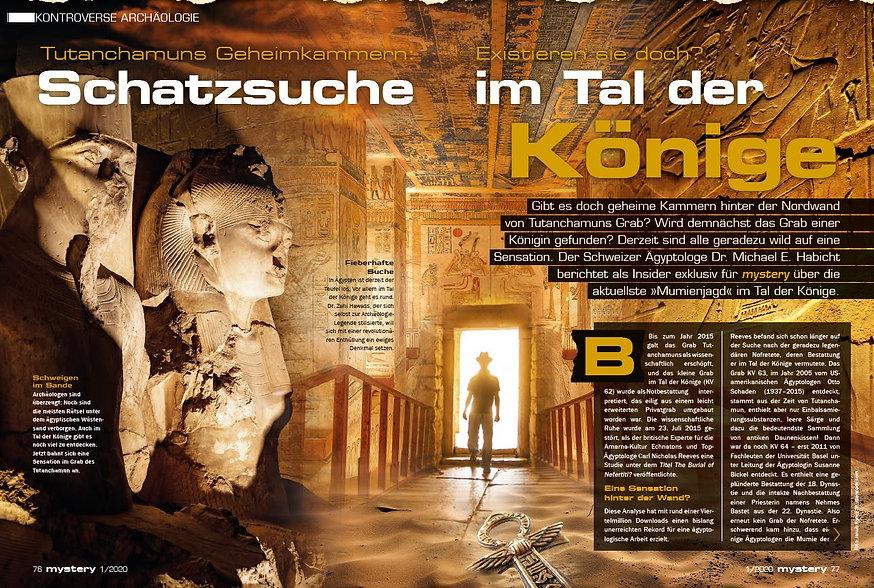 Mystery Magazin Tutanchamun Geheimkammern Schatzsuche