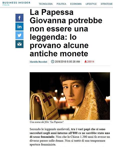 Business Insider Italia Papessa Giovanna